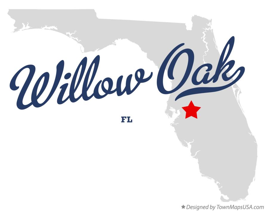 Map of Willow Oak Florida FL