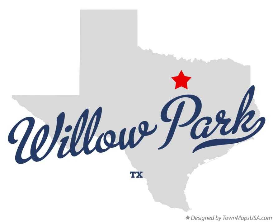 Map of Willow Park Texas TX