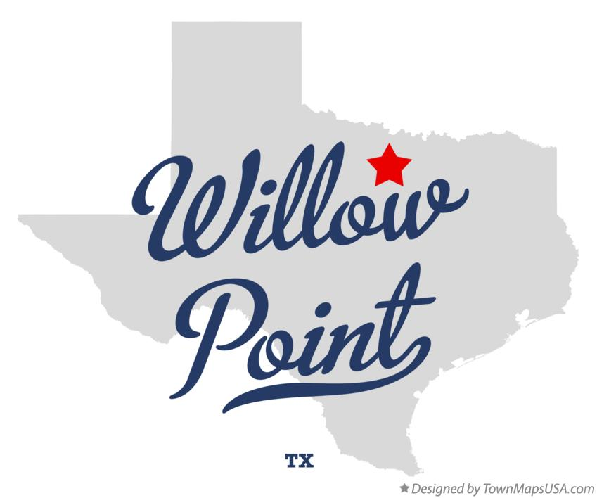 Map of Willow Point Texas TX