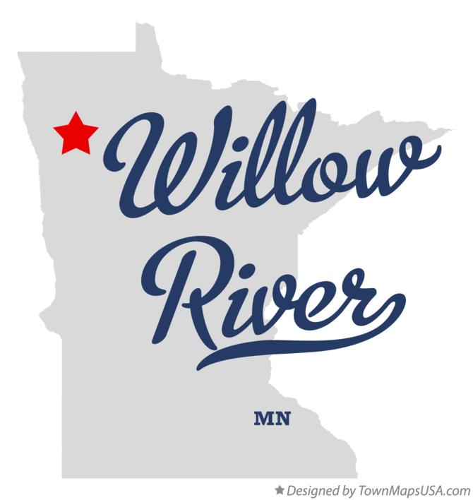 Map of Willow River Minnesota MN