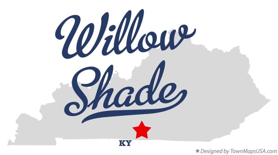 Map of Willow Shade Kentucky KY