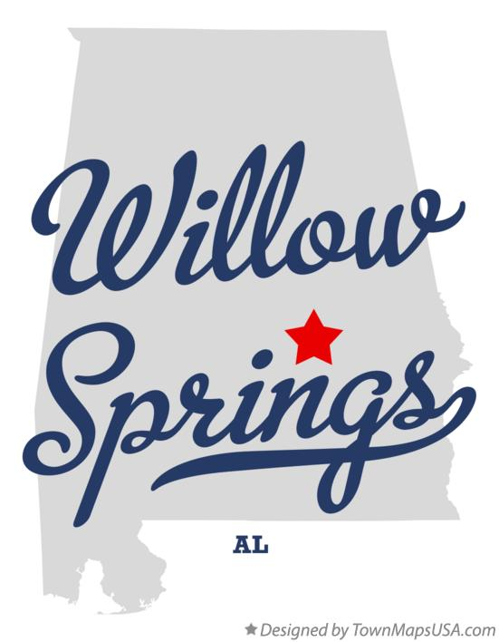 Map of Willow Springs Alabama AL