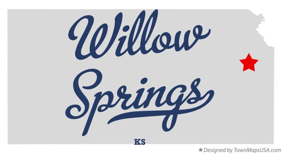 Map of Willow Springs Kansas KS