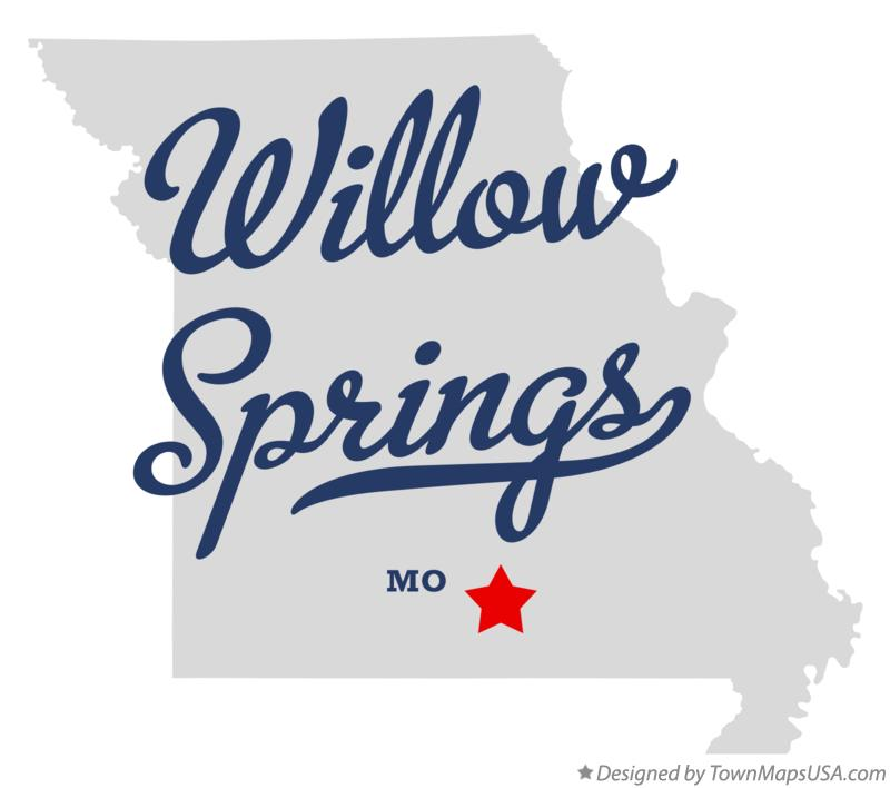 Map of Willow Springs Missouri MO