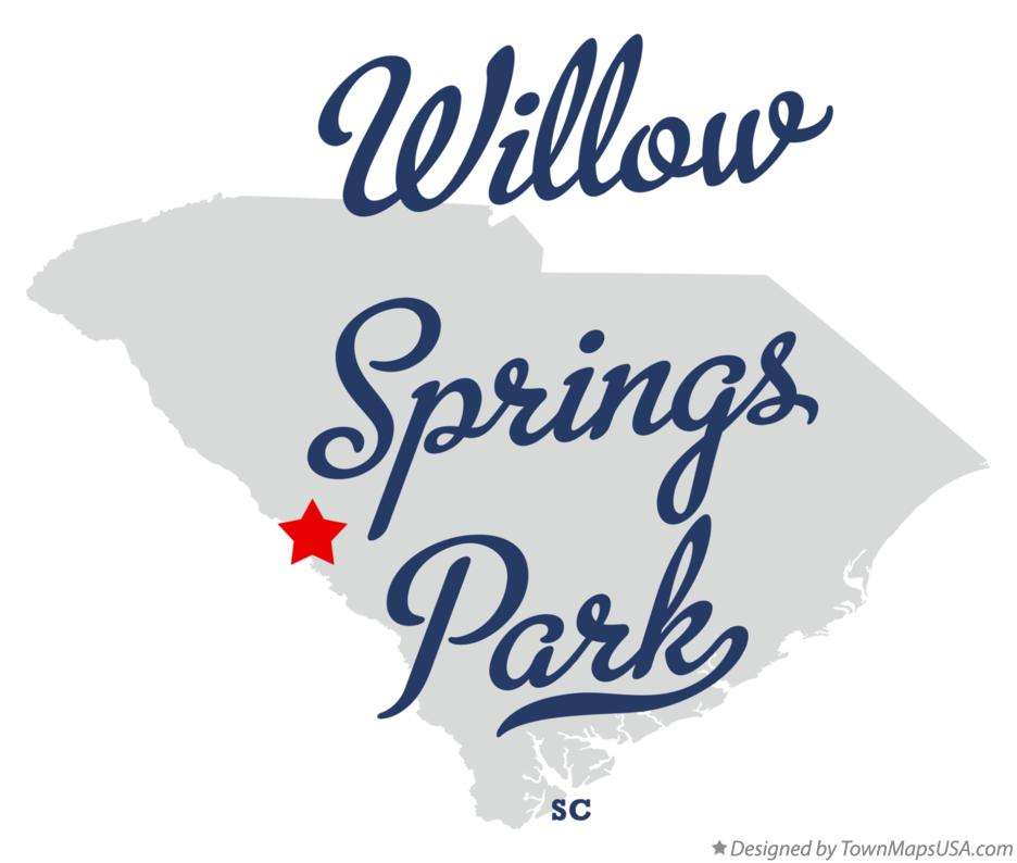 Map of Willow Springs Park South Carolina SC