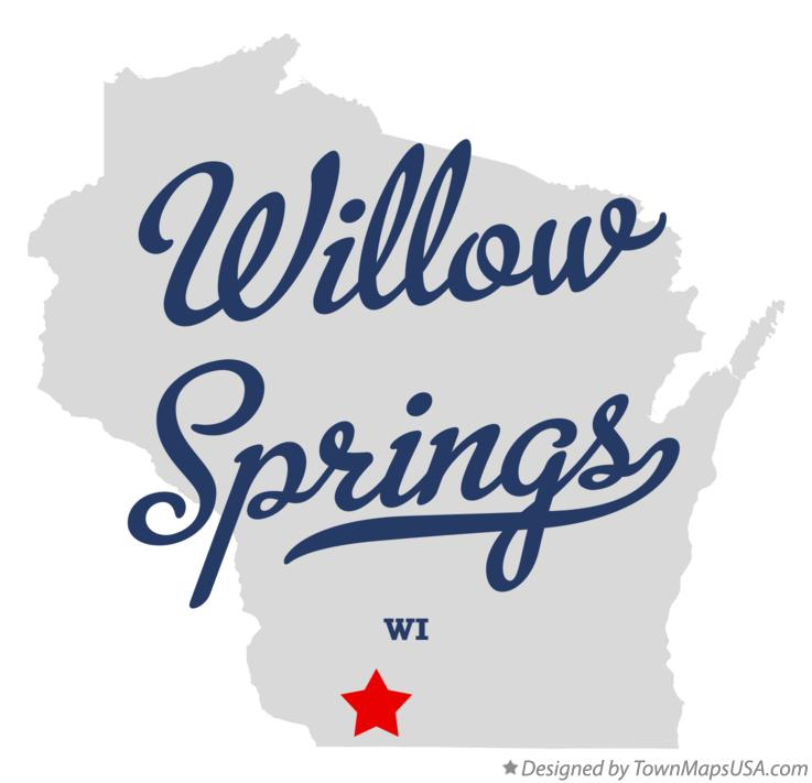 Map of Willow Springs Wisconsin WI