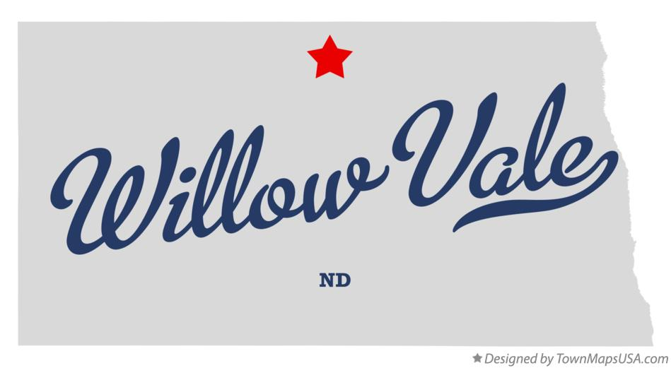Map of Willow Vale North Dakota ND