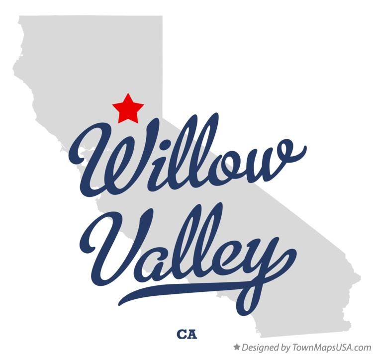 Map of Willow Valley California CA