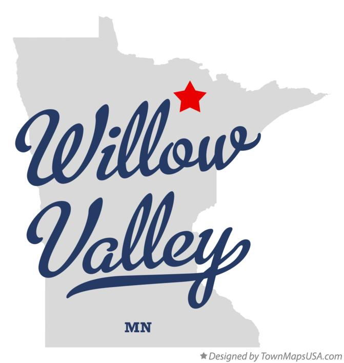 Map of Willow Valley Minnesota MN