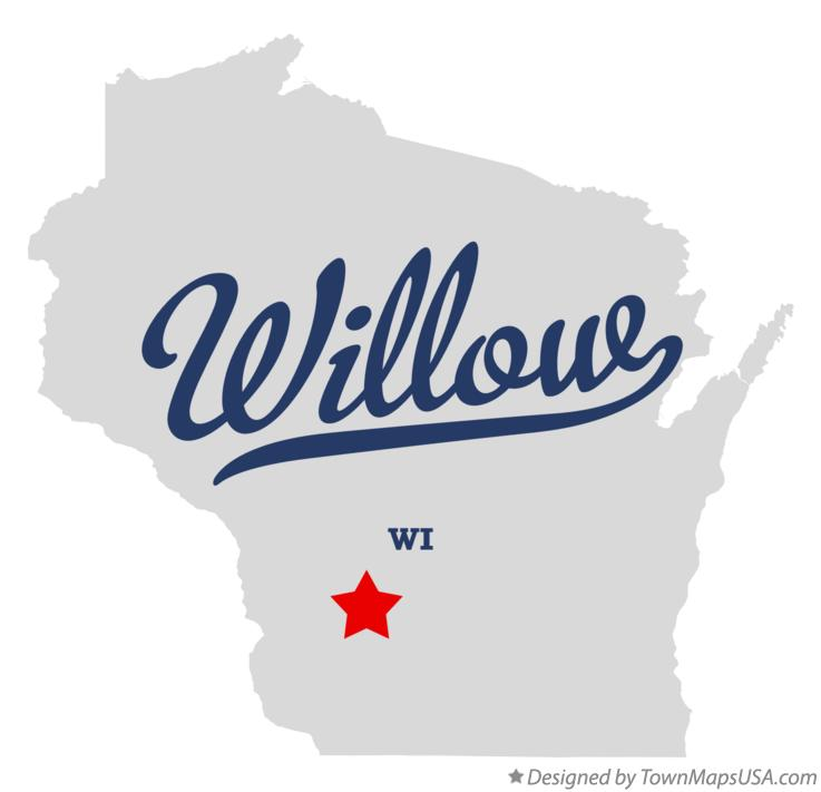 Map of Willow Wisconsin WI