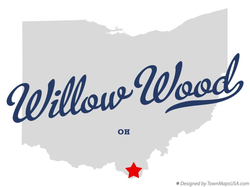 Map of Willow Wood Ohio OH