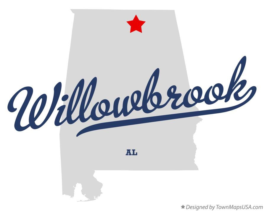 Map of Willowbrook Alabama AL