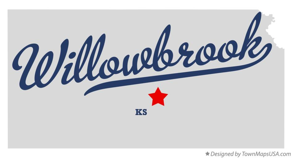 Map of Willowbrook Kansas KS