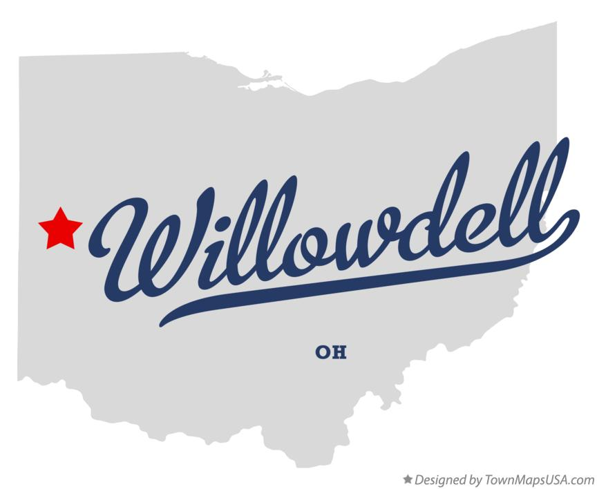 Map of Willowdell Ohio OH