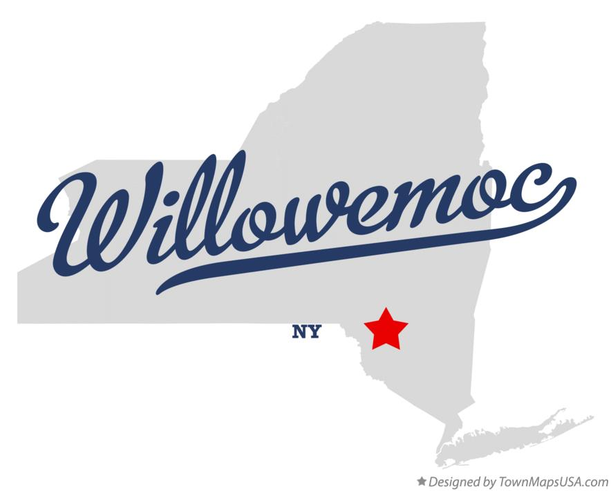 Map of Willowemoc New York NY