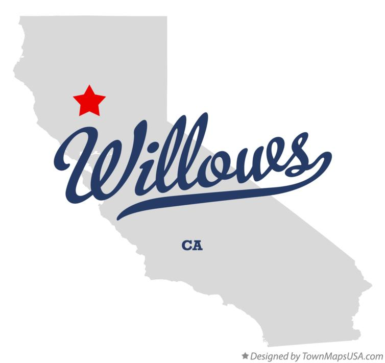 Map of Willows California CA