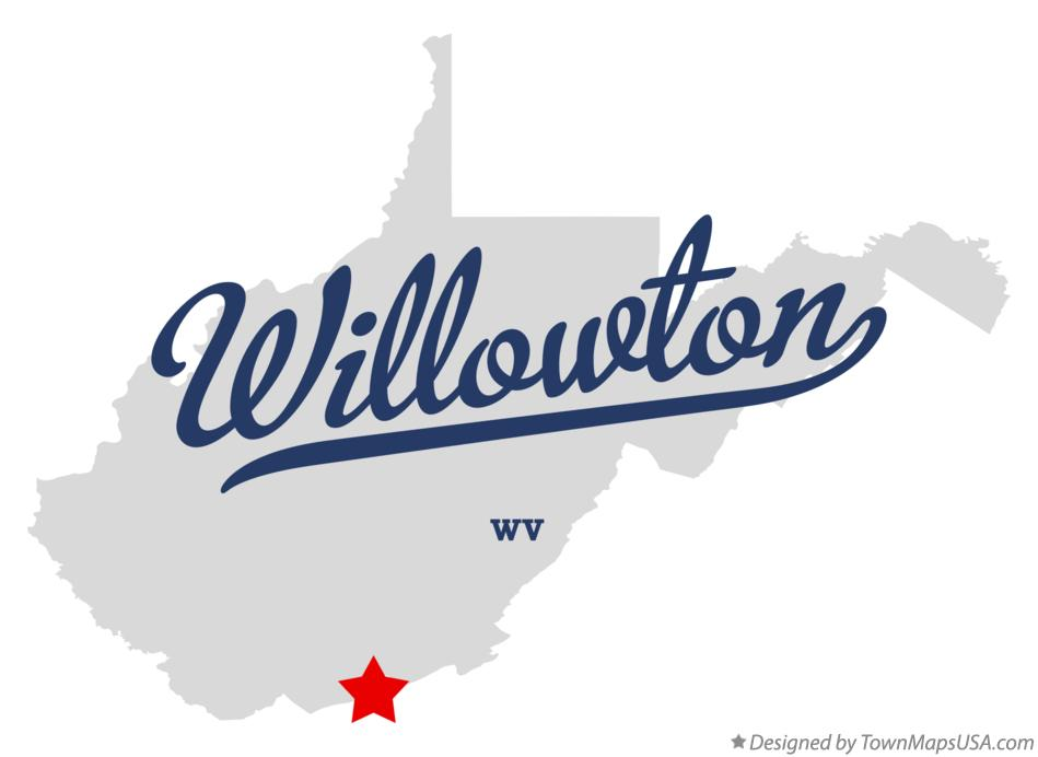 Map of Willowton West Virginia WV