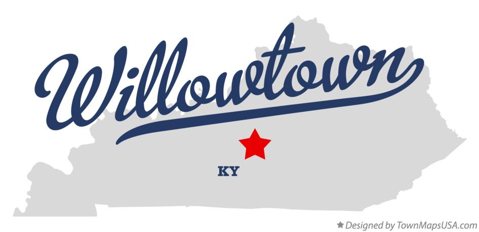Map of Willowtown Kentucky KY