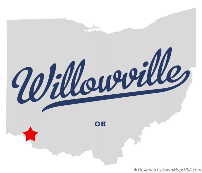 Map of Willowville Ohio OH