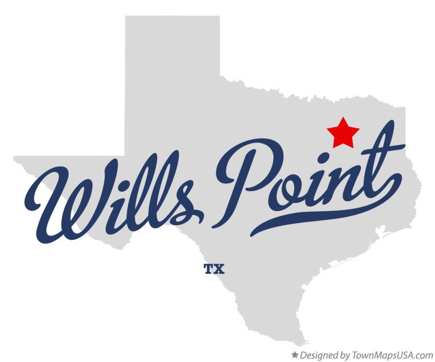 Map of Wills Point Texas TX