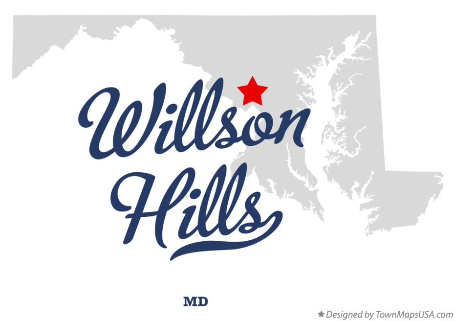 Map of Willson Hills Maryland MD