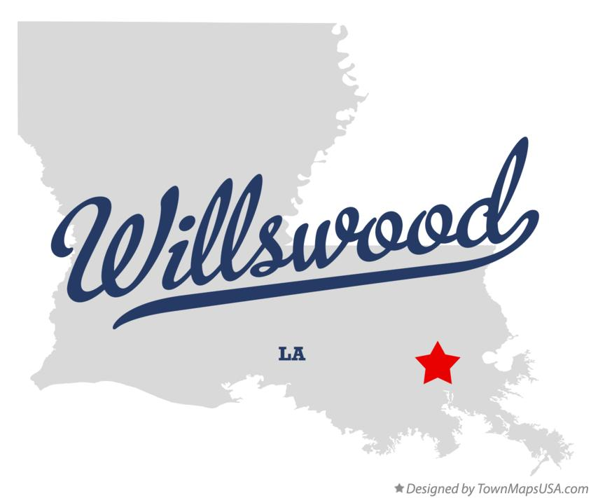 Map of Willswood Louisiana LA