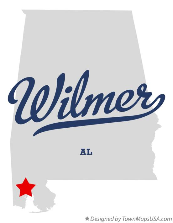 Map of Wilmer Alabama AL