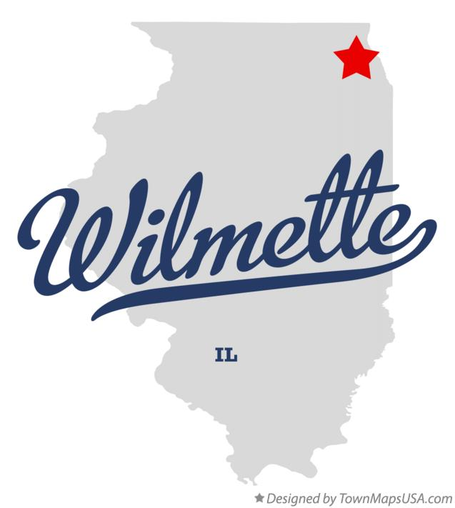 Map of Wilmette Illinois IL