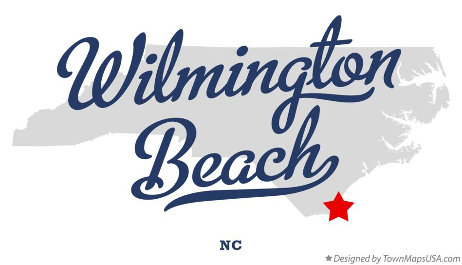 Map of Wilmington Beach North Carolina NC