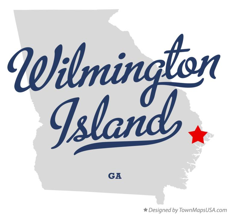 Map of Wilmington Island Georgia GA