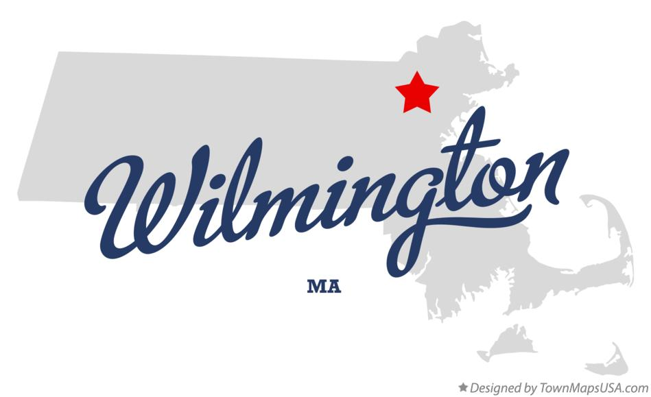 Map of Wilmington Massachusetts MA