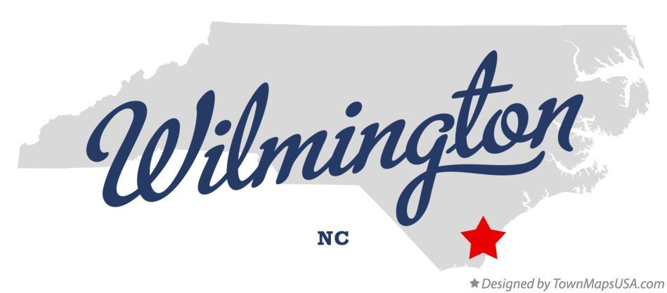 Map Of Wilmington Nc North Carolina