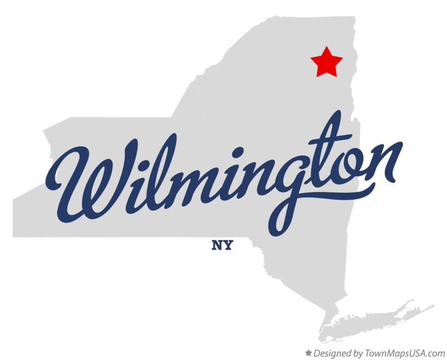 Map of Wilmington New York NY