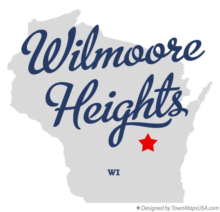 Map of Wilmoore Heights Wisconsin WI