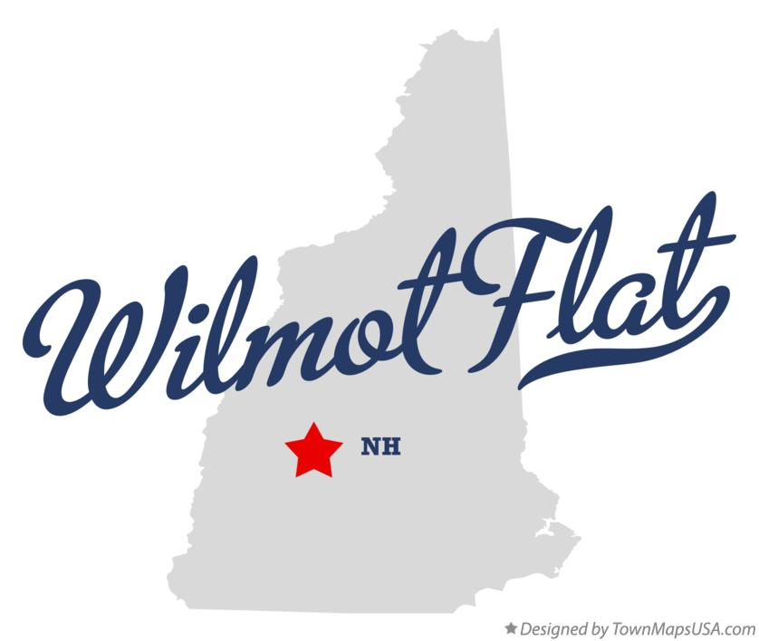 Map of Wilmot Flat New Hampshire NH
