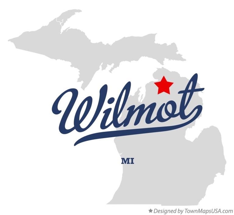 Map of Wilmot Michigan MI