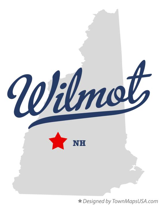 Map of Wilmot New Hampshire NH