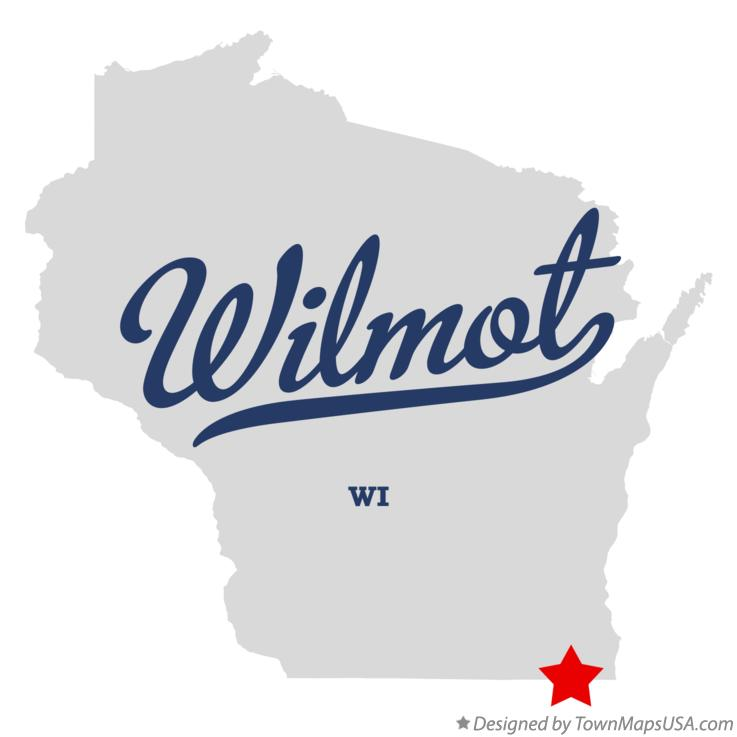 Map of Wilmot Wisconsin WI
