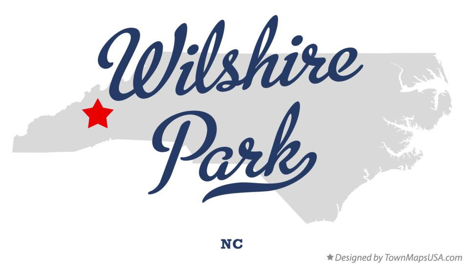 Map of Wilshire Park North Carolina NC