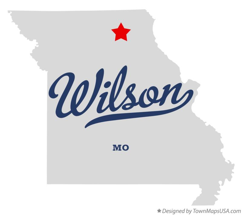 Map of Wilson Missouri MO