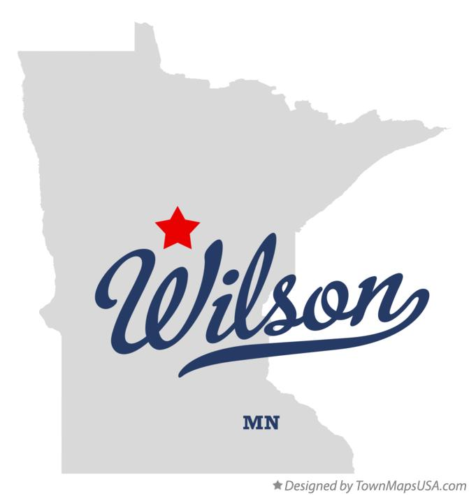 Map of Wilson Minnesota MN
