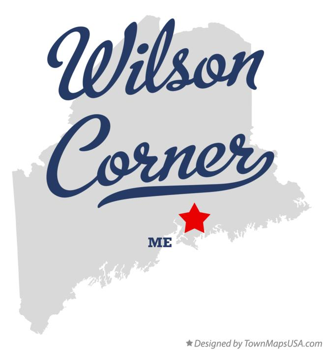 Map of Wilson Corner Maine ME