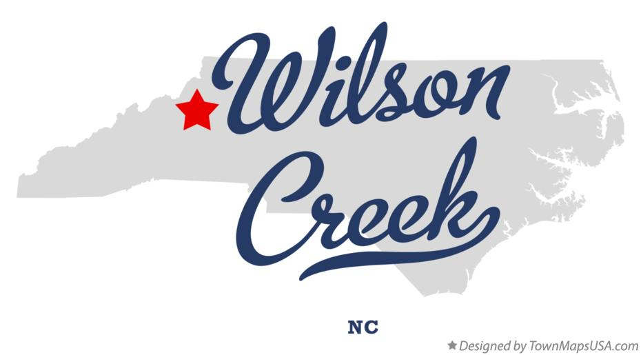 Map of Wilson Creek North Carolina NC