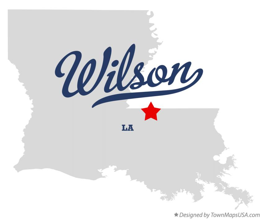 Map of Wilson Louisiana LA