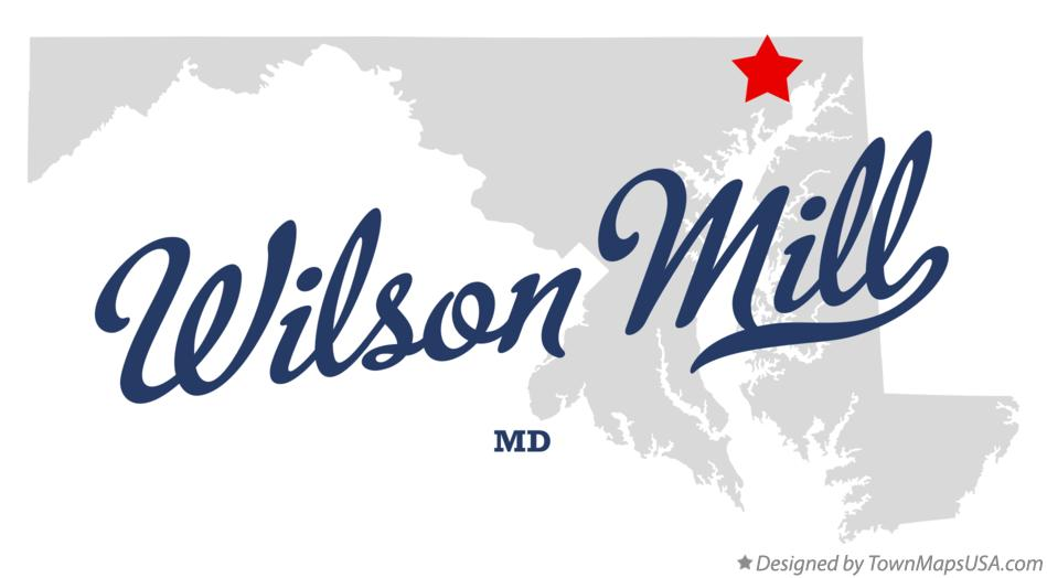 Map of Wilson Mill Maryland MD