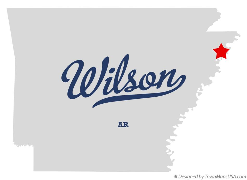 Map of Wilson Arkansas AR