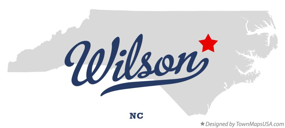 Map of Wilson North Carolina NC