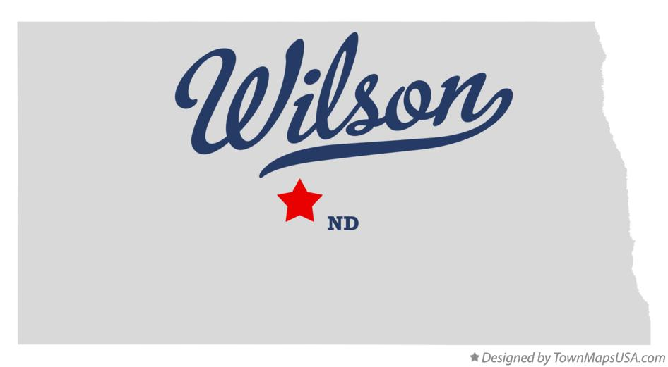 Map of Wilson North Dakota ND