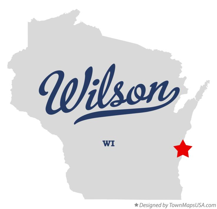 Map of Wilson Wisconsin WI