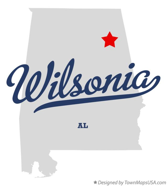 Map of Wilsonia Alabama AL